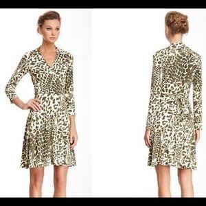 Diane Von Furstenberg leopard print wrap dress, 12